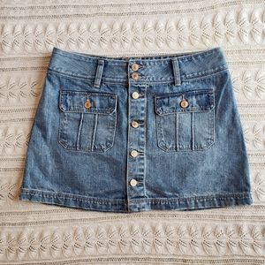 Abercrombie & Fitch denim button skirt size 8 A20